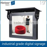 19 inch heavy duty bus led screen display advertising player