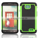 New products Triple layers Shockproof Defender football pattern rubber Heavy duty ballistic hybrid Armor Case for LG L70