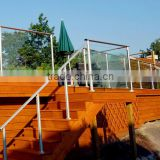 fancy balcony deck glass banister cast aluminum railing
