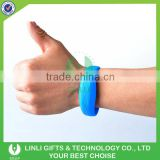 Wholesale Custom Logo Printed LED Silicone Bracelet, Promotiona LED Light Silicone Wristbnad