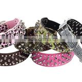Chinese manufacturer wholesale various pattern pet leashes collar traction rope with mighty stud