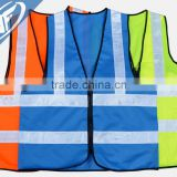 High-grade sanitation work clothes Reflective vest greening garden cleaners reflective zipper vest