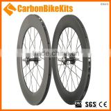 TW88T 88mm cycle carbon fixed gear carbon spoke single wheels