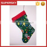 V-291 unique christmas candy snowflake stocking christmas gift decoration christmas hanging ornaments
