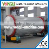 Convenient feeding automatic electric three layers rotary drum dryer for powder biomass raw material