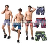 oem athletic apparel compression shorts/wholesale mens polyester spandex compression wear camouflage digital print shorts men