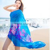 Beach Chiffon Wrap hawaiian Sarong Skirt Bikini Cover up Scarf