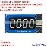 4 digital LED display module ,Adjustable brightness module with clock