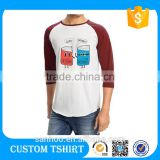 B2B Online Wholesale China Man Clothes 3/ 4 Sleeve Raglan T Shirt Raglan No Label