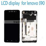 5.0 inch For Lenovo S90 S90-T S90-U White Full LCD Display Touch Panel Screen Glass Assembly With Frame Replacement Parts
