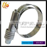 Factory supplier stainless steel /galvanized iron heavy duty American type hose/pipe clamp