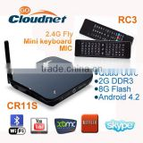 Cloudnetgo CR11S set-top boxes stream smart tv box iptv arabic RK 3066 android 4K tv box