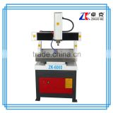 Working table moving Whole casting iron mini metal mould cnc router machine with 2.2KW spindle ZK-6060                                                                                                         Supplier's Choice