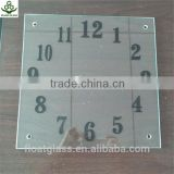 3mm,4mm,5mm,6mm,8mm patterned clear float glass,frosted glass,square-shape decorate wall clock glass