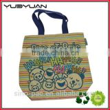 2015 Accept small minumum decorated custom printed high quality blank canvas tote bags wholesale