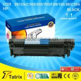 toner cartridge 2612A / C103 / C303 / C703 / FX9 / FX10 / L90 / C104 for HP