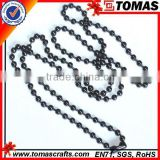 Guangzhou custom black plated ball chain necklace