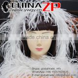 ZPDECOR Factory Wholesale Top Selling Natural Bleached White 35Gram Weight Ostrich Feathers Boa for Fashion Show