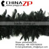 Leading Supplier CHINAZP Factory Wholesale 40 Gram Weight in Stock Dyed Black Turkey Chandelle Feathers Boas