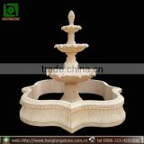 Hand Carved 3 Tiers Marble Water Fountain