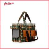 High Quality Plaid Pet Bag Outdoor Dog Bag