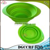 NBRSC Silicone Collapsible Colander Spaghetti Strainer Mesh Drainer for Food Pasta Vegetables Fruit