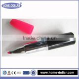 Factory price smooth writing water color lipstick shape note mark pen