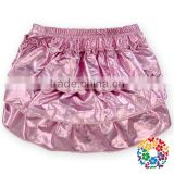 Hot Baby Girls Newborn Metallic Solid Color Cotton Ruffled Bloomers Pant Nappy Cover Little Cute Pink Panties For Baby Wholesale