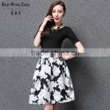 2015 summer new apparel A-line skirt full printing dresses apparel dress up games for girls