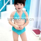 Beautiful children summer beach solid color baby bikini kids girls chiffon bikini swim girl beach bikini