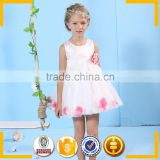 White sleeveless formal flower girl dresses teenage girls clothes