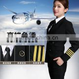 Juqian Green Classic Tailor Made Women Airline Suits Uniform female airline pilot uniforms