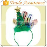 2016 Fashion polyester wholesale deer/tree/snowman decorations felt pattern Merry Christmas headband made in China