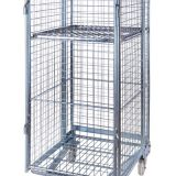 4 Sides Warehouse Logistic Hand Steel Moving Roll Cage Container