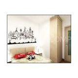 Cream Coloured PVC Plastic Nature Wall Decals / Bedroom Wall Decals For Interior 0.9m x 2m