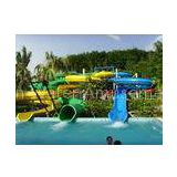 yellow / blue Giant Spiral Water Slide , child swimming pool tube water slides