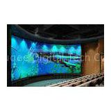 Large curved screen 3D cinema system with bubble snow rain lighting special effect system