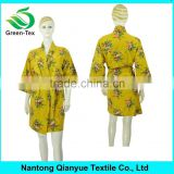 Customized Short Sexy Print Fleece Warm Robes for Women