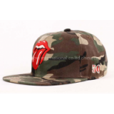 Red Tongue Embroidery Camouflage Baseball Cap 12009