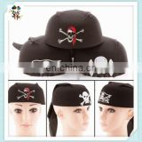 Halloween Party Cosplay Costume Skeleton Black Pirate Hats HPC-0215