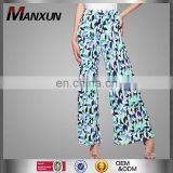 New Pants High Waisted Wide Leg Pants Islamic Women Loose Palazzo Bottom Pants Muslim Wear Women Floral Printed Trousers