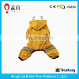 Hot sale high quality fashion pvc dog raincoat pattern with reflective tape