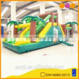 AOQI high quality girls backyard obstacle slide outside inflatable obstacle course playground on sale