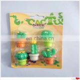 promotional cactus shaped puzzle eraser
