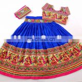 BLUE Tribal Embroidery Chaniya Choli- Indian Hand Embroidered Kutch Choli -Kutch Banjara Chaniya choli
