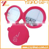 Promotion silicone rubber Makeup Mirror/double pocket mirror/cosmtic mirror
