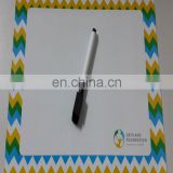 Custom shape magnetic memo board with pencil type whtieboard