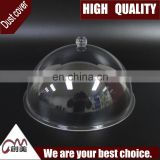 Transparent acrylic dust cover with round shape