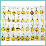 new developed 36 styles soft PVC emoji keychains