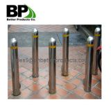 galvanized or powder coated steel road bollards for parking lot